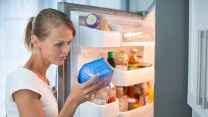 fridge freezing food